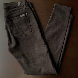 7forAllMankind The Skinny Black jeans
